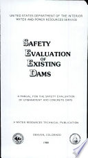 Safety Evaluation of Existing Dams