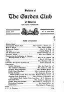 Bulletin of the Garden Club of America