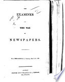 The Examiner And The Tax On Newspapers From The Radical Of Saturday March 26 1836 Signed F P I E Francis Place  Book