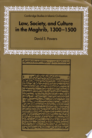 Law%2C+Society+and+Culture+in+the+Maghrib%2C+1300-1500