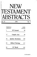 New Testament Abstracts