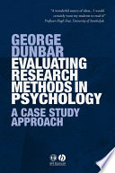 Evaluating Research Methods in Psychology Book PDF
