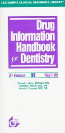 Drug Information Handbook for Dentistry 1997-98