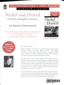 Nickel and Dimed Teacher s Guide