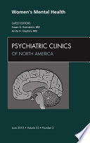 Women S Mental Health An Issue Of Psychiatric Clinics E Book Book PDF
