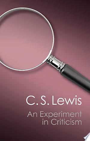 An+Experiment+in+CriticismWhy do we read literature and how do we judge it? C. S. Lewis's classic An Experiment in Criticism springs from the conviction that literature exists for the joy of the reader and that books should be judged by the kind of reading they invite. He argues that 'good reading', like moral action or religious experience, involves surrender to the work in hand and a process of entering fully into the opinions of others: 'in reading great literature I become a thousand men and yet remain myself'. Crucial to his notion of judging literature is a commitment to laying aside expectations and values extraneous to the work, in order to approach it with an open mind. Amid the complex welter of current critical theories, C. S. Lewis's wisdom is valuably down-to-earth, refreshing and stimulating in the questions it raises about the experience of reading.