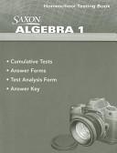 Saxon Algebra 1 Homeschool Testing Book
