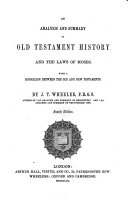 An Analysis and Summary of Old Testament History and the Laws of Moses ebook