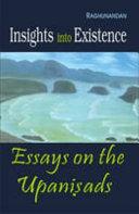 Insights Into Existence - Essays On The Upanisads Pdf/ePub eBook
