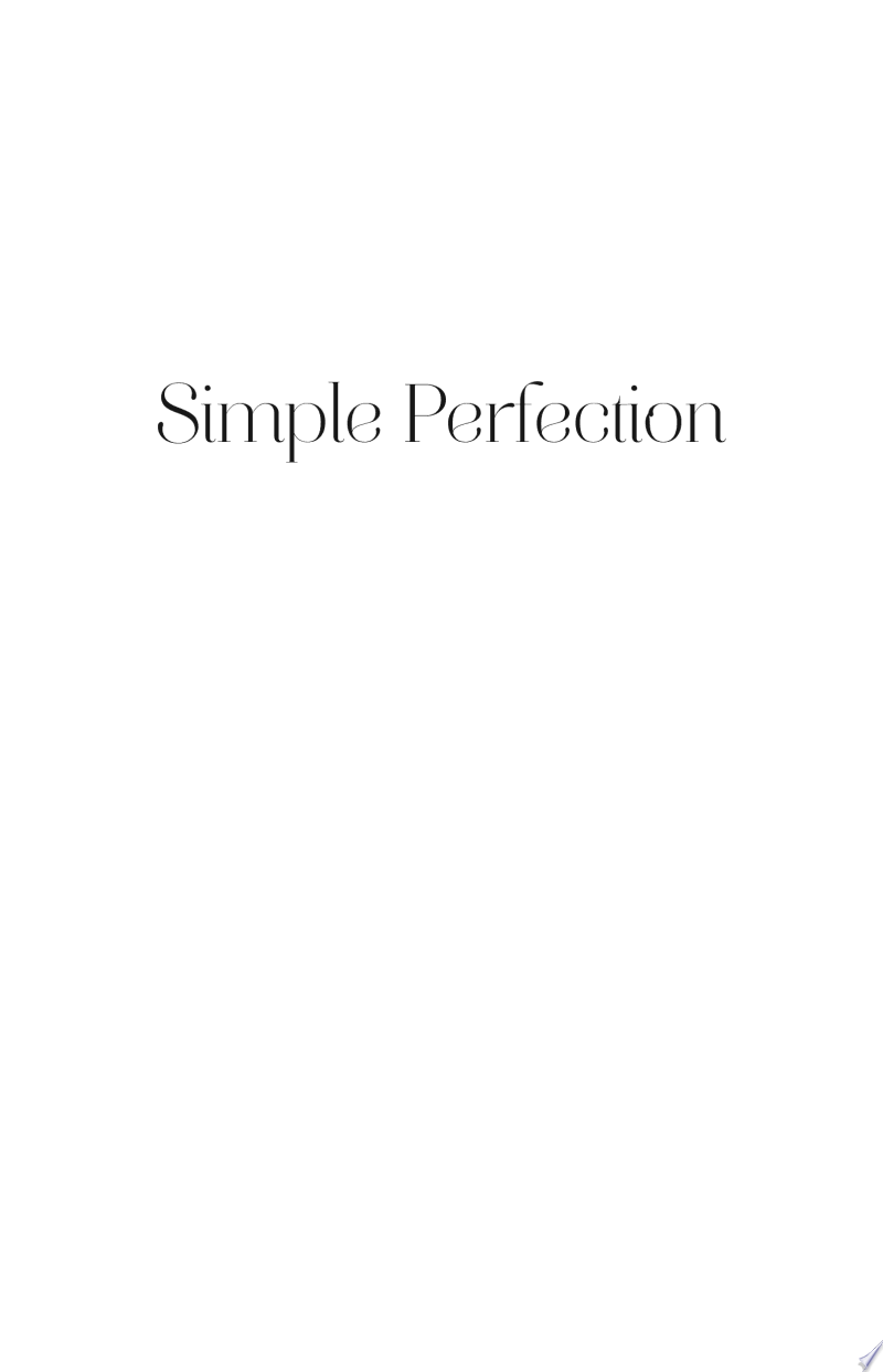Simple Perfection poster