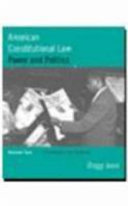 American Constitutional Law  Civil rights and liberties