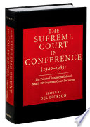 The Supreme Court in Conference  1940 1985