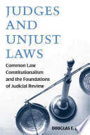 Judges and Unjust Laws