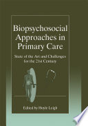 Biopsychosocial Approaches In Primary Care Book PDF