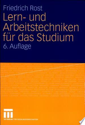 Download Lern- und Arbeitstechniken für das Studium Books - RDFBooks