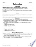 Earthquakes Reader S Theater Script And Lesson
