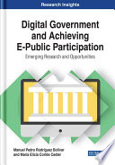 Digital Government And Achieving E Public Participation Emerging Research And Opportunities