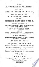 The Advantage and Necessity of the Christian Revelation