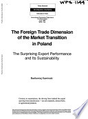 The Foreign Trade Dimension of the Market Transition in Poland