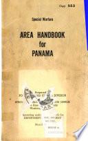 Special Warfare Area Handbook for Panama