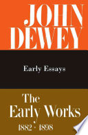 The Early Works, 1882-1898: 1895-1898. Early essays