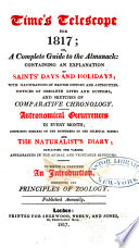 Time's Telescope for ... ; Or, A Complete Guide to the Almanack