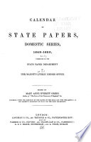 Calendar Of State Papers Domestic Series Of The Commonwealth