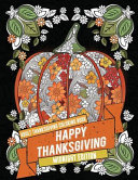 Adult Thanksgiving Coloring Book: Happy Thanksgiving - Midnight Edition