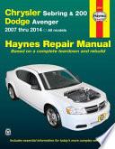 Chrysler Sebring & 200 and Dodge Avenger
