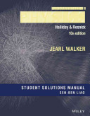 Student Solutions Manual for Fundamentals of Physics  Tenth Edition