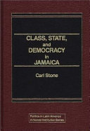 Class State And Democracy In Jamaica