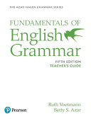 Fundamentals Of English Grammar Teacher S Guide Book