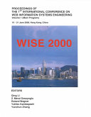 Proceedings of the First International Conference on Web Information Systems Engineering Book