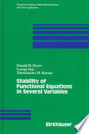 Stability Of Functional Equations In Several Variables Book PDF