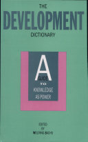 Development Dictionary  The  A Guide to Knowledge as Power