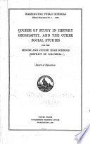 Course of Study in History, Geography, and the Other Social Studies for the Senior and Junior High Schools