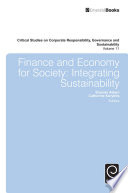 Finance and Economy for Society  : Integrating Sustainability