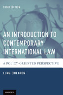 An Introduction to Contemporary International Law