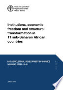 Institutions, economic freedom and structural transformation in 11 sub-Saharan African countries