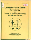 Corrective And Social Psychiatry And Journal Of Behavior Technology Methods And Therapy