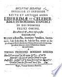 Inclytus Senatus Superior et Inferior     urbis     Dantisci      Anno infra posito  1653  inauguratus  etc