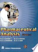 Pharmaceutical Analysis Vol    I