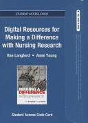Making A Difference With Nursing Research Coursecompass Access Card