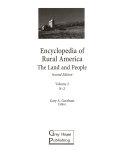 Encyclopedia of Rural America  N Z Book
