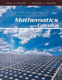 Cover of Technical Mathematics with Calculus