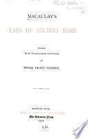 Macaulay s Lays of Ancient Rome