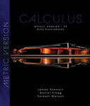 Calculus  Early Transcendentals  International Metric Edition