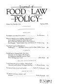 Journal of Food Law   Policy