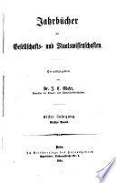 Jahrbücher für Gesellschafts- und Staatswissenschaften