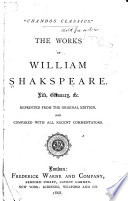 The Complete Works Of Shakspere With A Memoir Book PDF